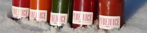 Purejuice in de sneeuw